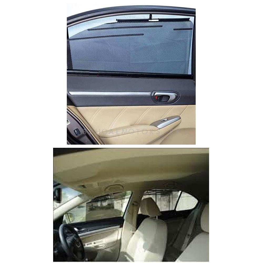 Toyota Fortuner Side Retractable Windshield Window Sunshield Visor Sun Shade Curtain - Model 2016-2021-SehgalMotors.Pk