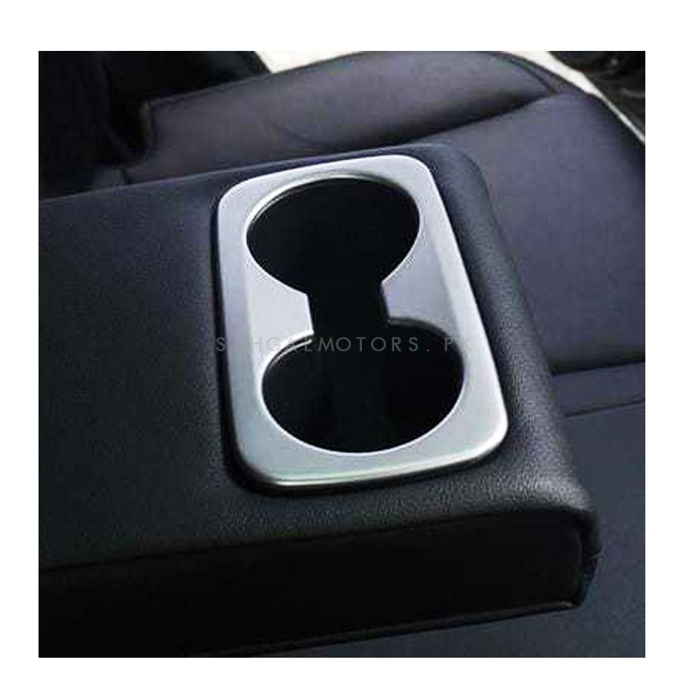 KIA Sportage Rear Water Beverage Holder Cup Decoration Box Trim Chrome - Model 2019 - 2020-SehgalMotors.Pk
