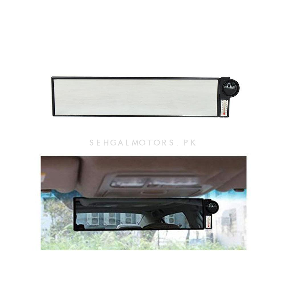 Universal Wide Angle Rearview Mirror With Compass-SehgalMotors.Pk