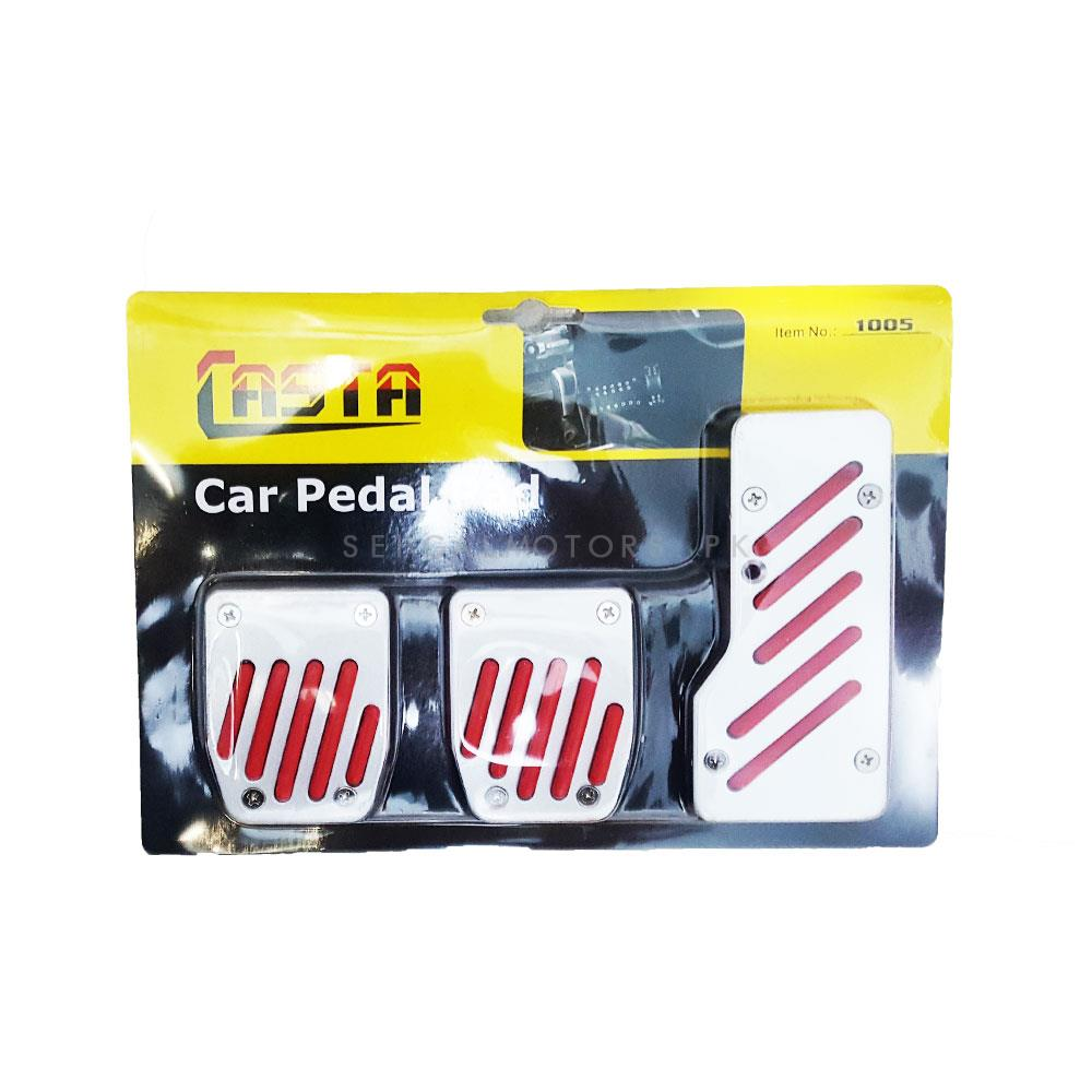 Universal Pedal Covers Manual Transmission Red - 1005-SehgalMotors.Pk
