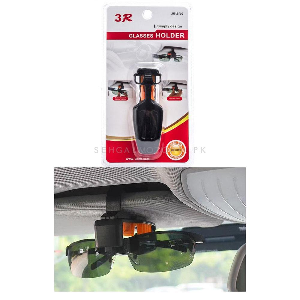 3R Glasses Holder Portable Car Vehicle Sun Glass Clip Storage Holder-SehgalMotors.Pk