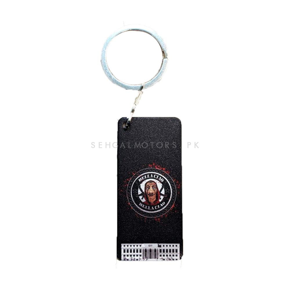 Bella Ciao Money Heist (La casa de papel) Mask Custom Key Chain -SehgalMotors.Pk