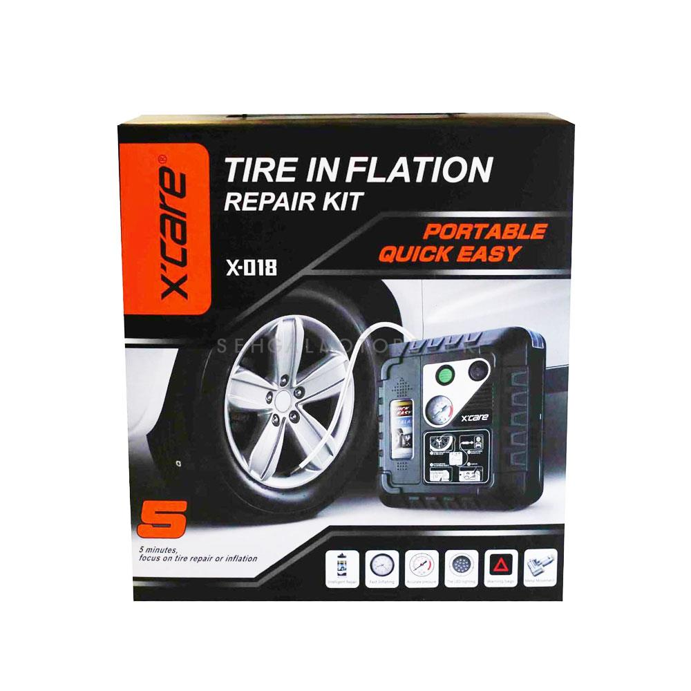 XCare Tire / Tyre Inflation Repair Kit   X-018 | X-care | Double Cylinder Heavy Duty Direct Drive Tyre Inflator-SehgalMotors.Pk