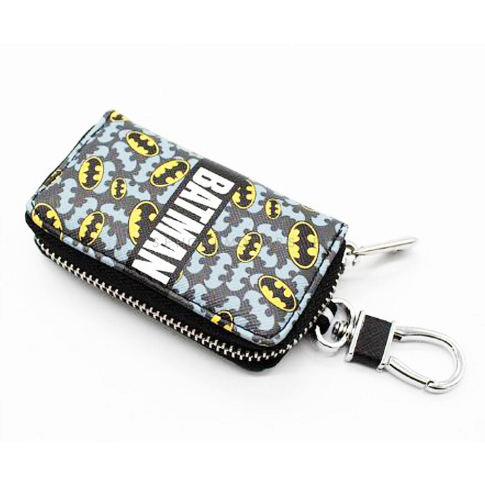 Batman Zipper Matte Leather Key Cover Pouch V1 with Keychain Ring-SehgalMotors.Pk