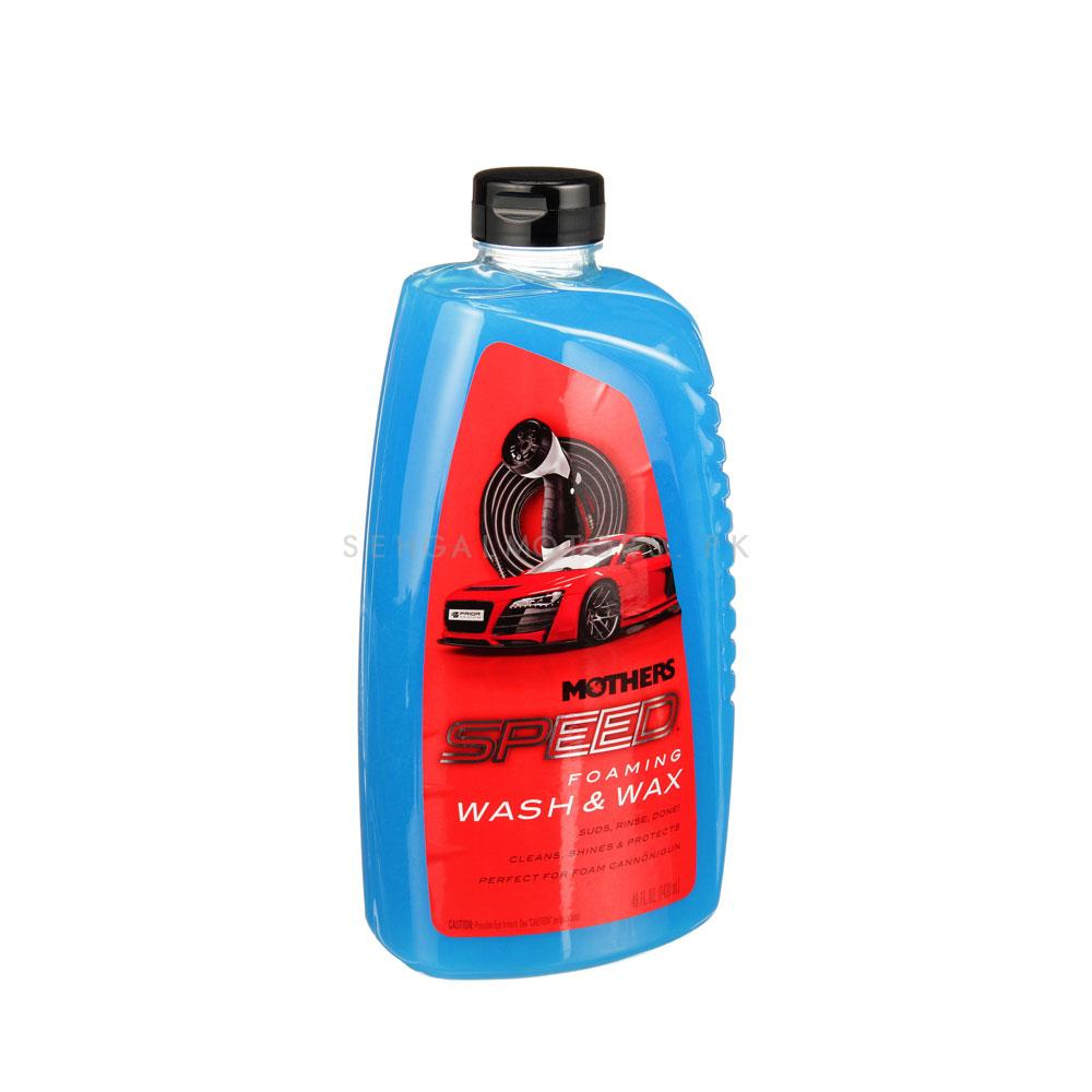 Mothers Speed Foaming Wash And Wax  | Car Shampoo | Car Cleaning Agent | Car Care Product | 2 in 1 Product | Glossy Touch Shampoo | Mirror Like Shine-SehgalMotors.Pk