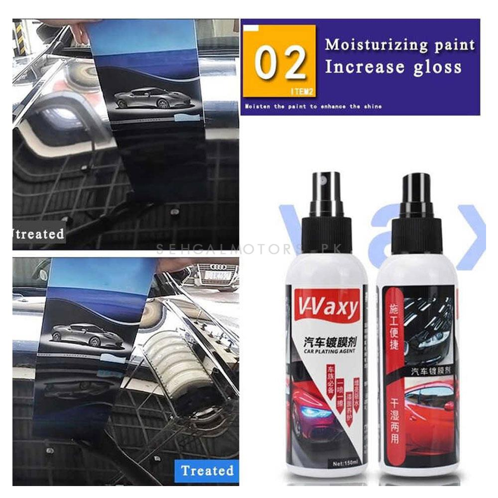 V-Vaxy Car Plating Agent for Mirror Like Coating  | Car Polish | Super Hydrophobic | Glass Coating | Paint Care Anti-scratch | Auto Detailing | Glasscoat Car Liquid | Ceramic Coat-SehgalMotors.Pk