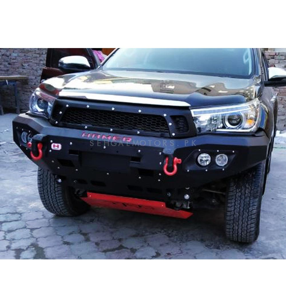 Toyota Hilux Revo Hamer Front Bull Bar Version 3 - Model 2017-2020-SehgalMotors.Pk