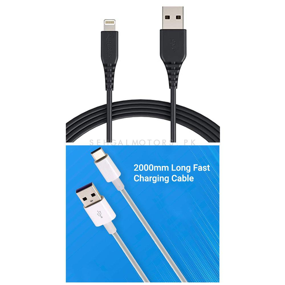 High Speed IOS Quick Charge USB Cable 3.6A with 2000mm  -SehgalMotors.Pk