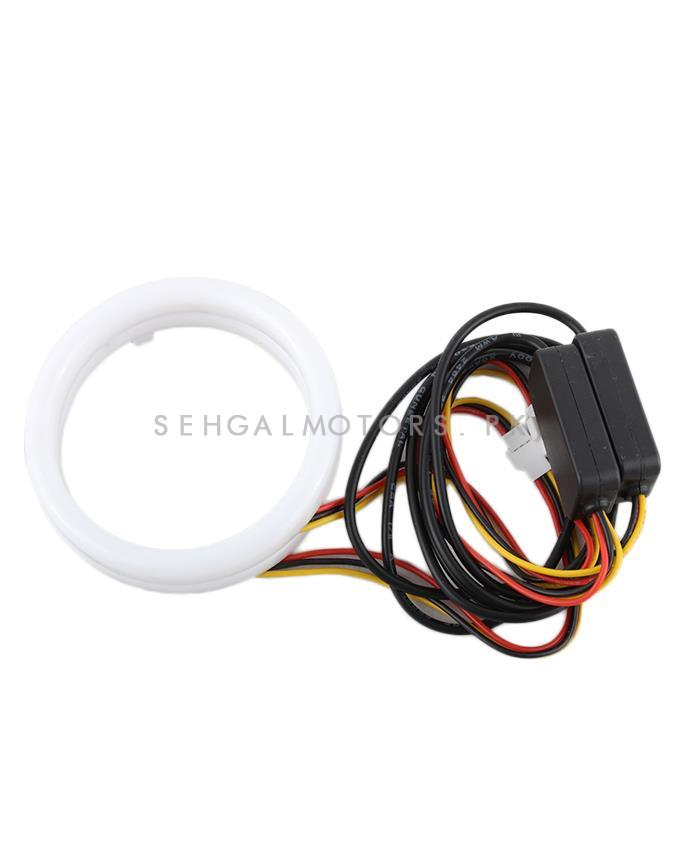 SMD LED 120cm Cotton Light Rings Dual Color For Car Fog lamps And Projector Lamps | For Audi Style Look-SehgalMotors.Pk