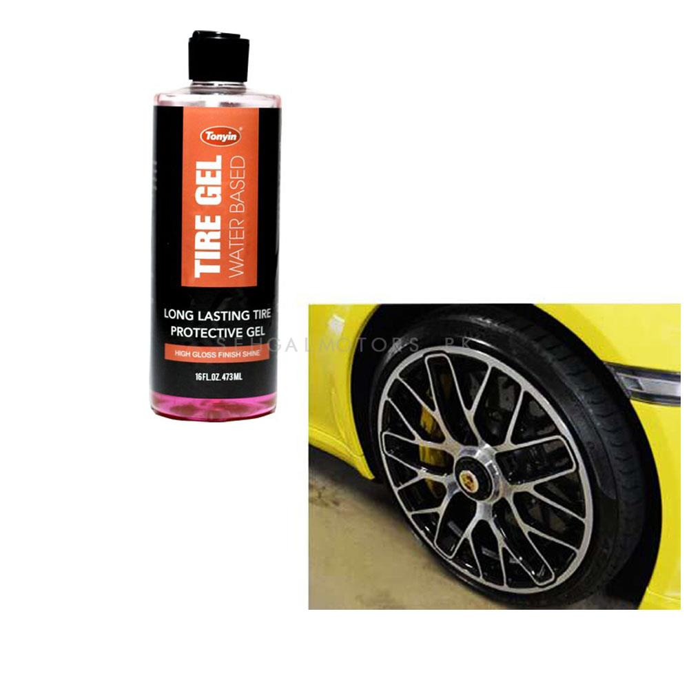Tonyin Tyre Gel - 473 ML | Tire Dedicated Refurbishing Agent Cleaner Coating Polish Protection Tyre Gloss | Multifunctional Tire Wax-SehgalMotors.Pk