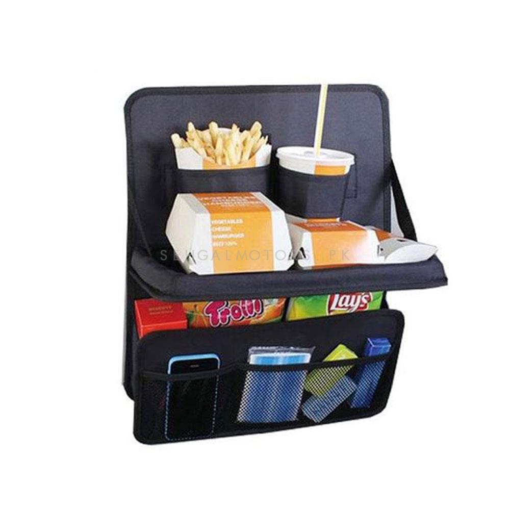 Car Back Seat Organizer With Dining Tray Holder Table | Dining Table-SehgalMotors.Pk