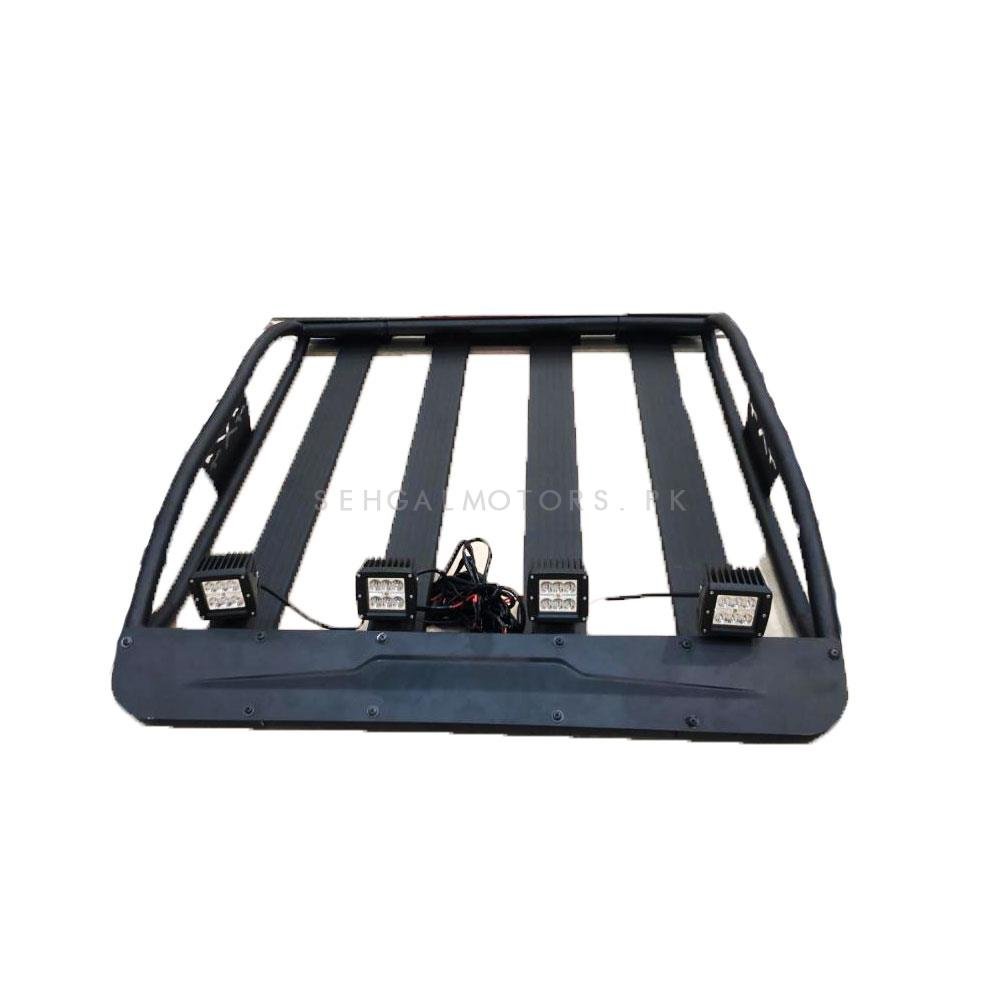 Universal Roof Rack Carrier With Led Bar Lights-SehgalMotors.Pk