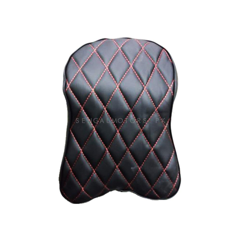 Universal Leather Style Backrest - Black | Car Seat Headrest Memory Cotton Soft Breathable Pillow Neck Support Cushion-SehgalMotors.Pk