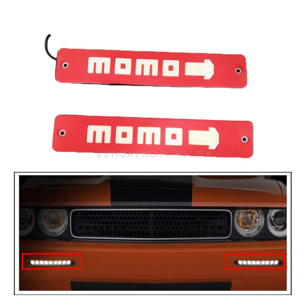 Momo Flexible LED DRL Red - Pair | Daytime Running Lights | Car Styling Led Day Light | DRL Lamp-SehgalMotors.Pk