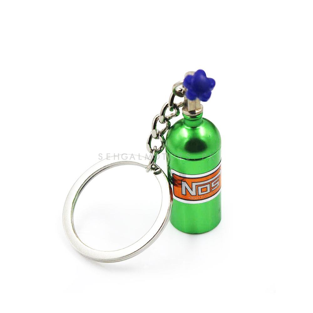 NOS Can Cylinder Shape Key Chain / Key Ring - Green | Key Chain Ring For Keys | New Fashion Creative Novelty Gift Keychains-SehgalMotors.Pk
