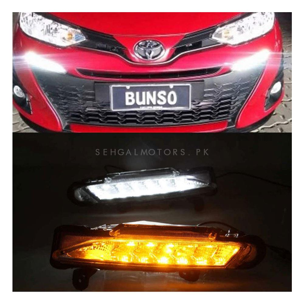 Toyota Yaris OEM Style Front DRL Day Time Running Light - Model 2020-2021-SehgalMotors.Pk