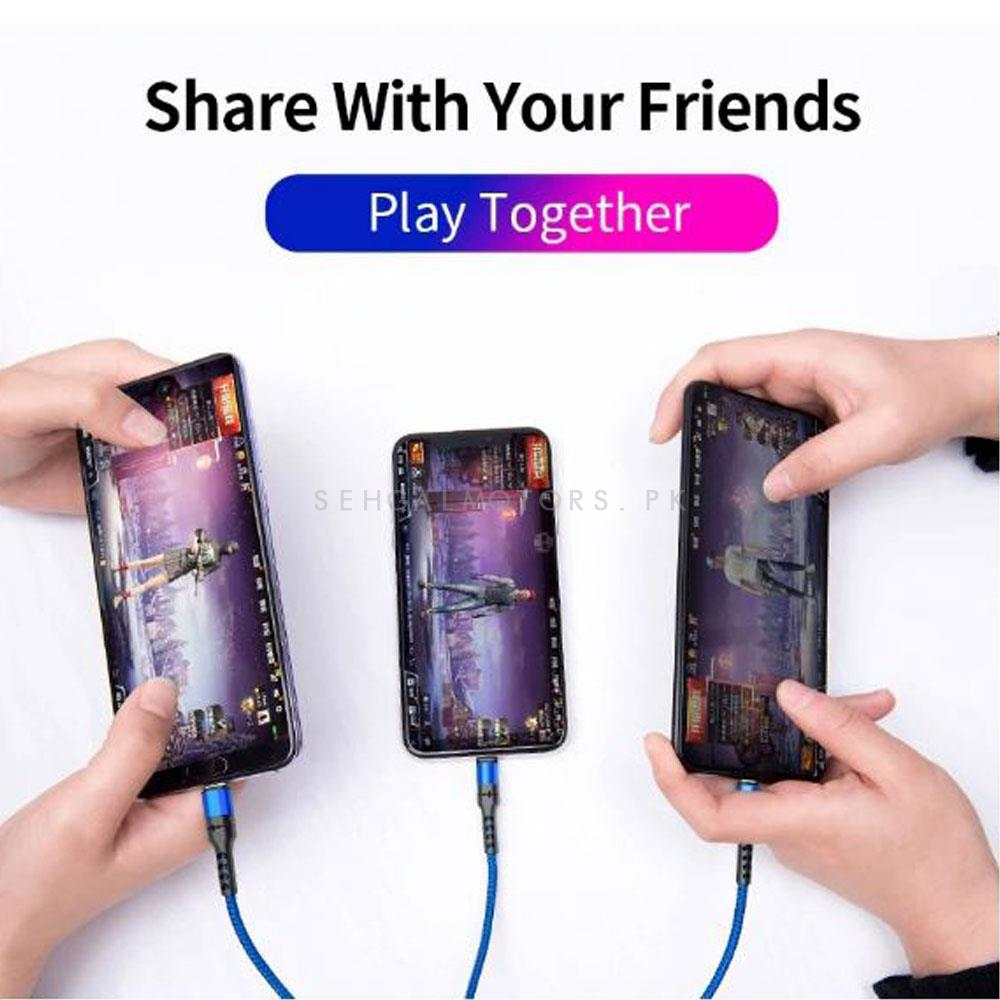 Maximus 3 In 1 Pro Cable Special Lightening Speed Version | USB Charging Cable | Mobile Cable | Charger Cable | 3 in 1 Product Android IOS Iphone Type C Samsung-SehgalMotors.Pk