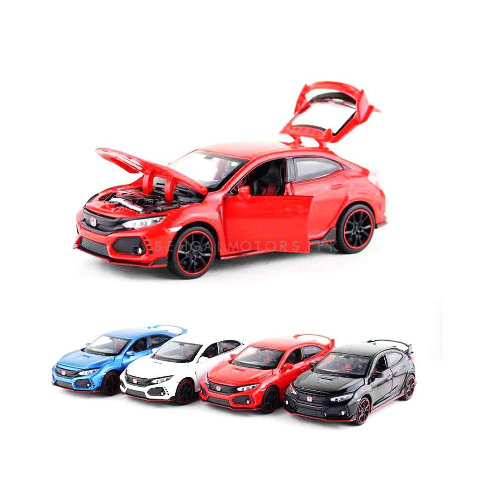 Honda Civic X Die Cast Car Toy Red - Model 2016 -2021	-SehgalMotors.Pk