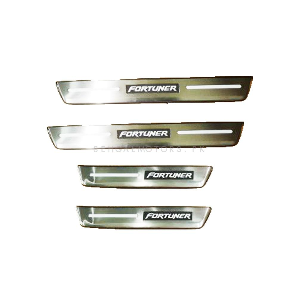 Toyota Fortuner LED Sill Plates / Skuff LED panels Design B - Model 2016-2021-SehgalMotors.Pk