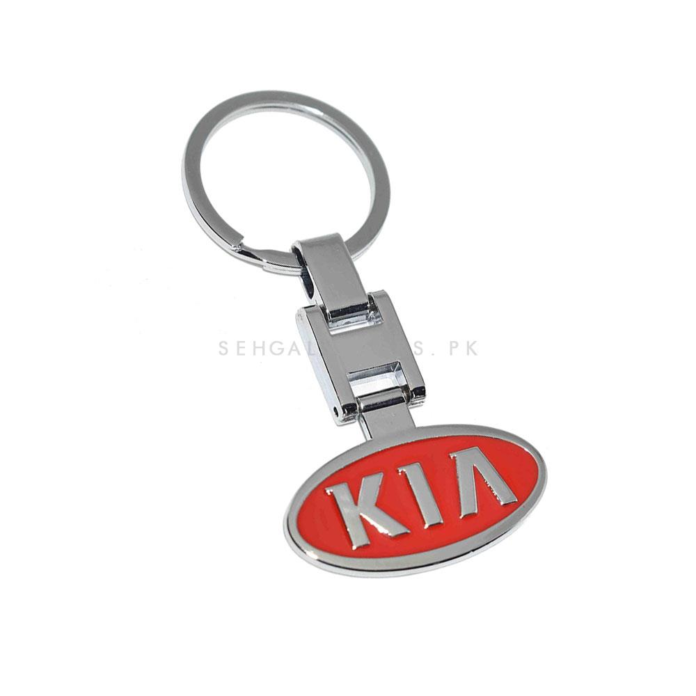 Kia Logo Metal Key Chain / Key Ring - Red | Key Chain Ring For Keys | New Fashion Creative Novelty Gift Keychains-SehgalMotors.Pk
