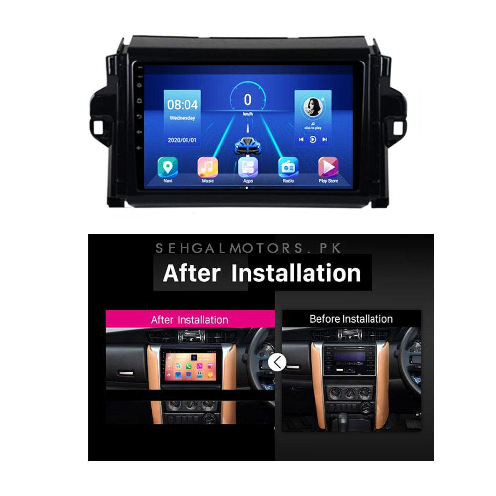 Toyota Fortuner Android IPS LCD Multimedia - Model 2016-2021-SehgalMotors.Pk