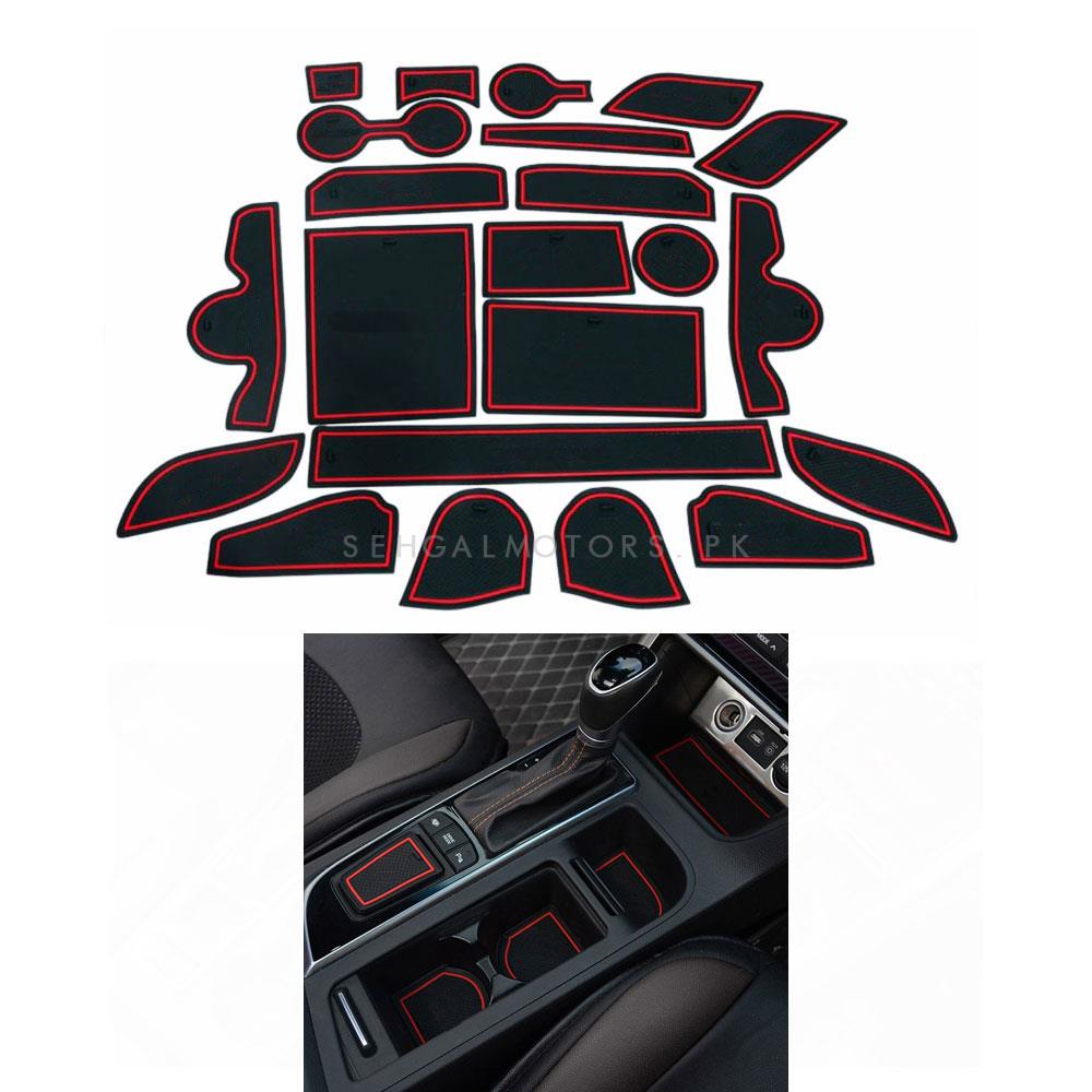 Hyundai Tucson PVC Interior Mats Red and Black - Model 2020-2021-SehgalMotors.Pk
