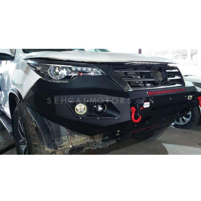 Toyota Fortuner Hamer Front Bull Bar Version 2 - Model 2016-2021-SehgalMotors.Pk