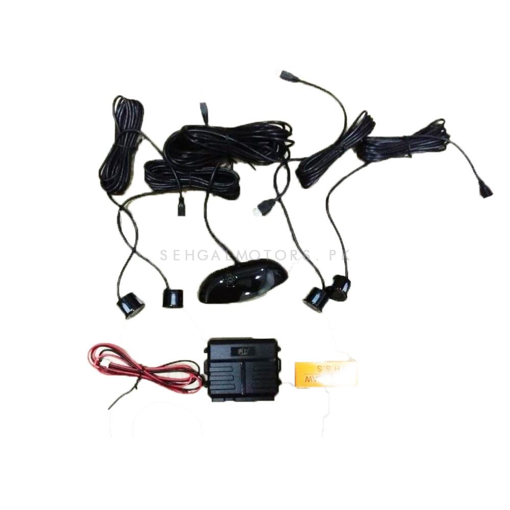 Reverse Parking Sensors detection with Sensors , Buzzer and Distance Indication LCD-SehgalMotors.Pk