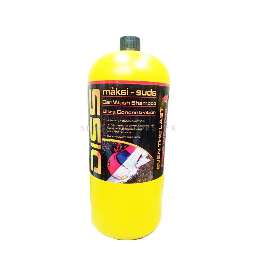 Diss Car Wash Shampoo Ultra Concentration - 2 Liter | Car Shampoo | Car Cleaning Agent | Car Care Product | 2 in 1 Product | Glossy Touch Shampoo | Mirror Like Shine-SehgalMotors.Pk