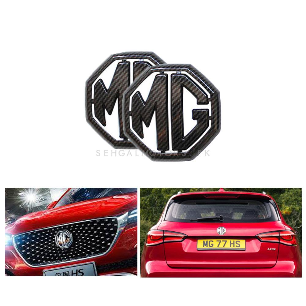MG ZS Front and Rear Monogram Carbon Fiber 2PC - Model 2020-2021-SehgalMotors.Pk