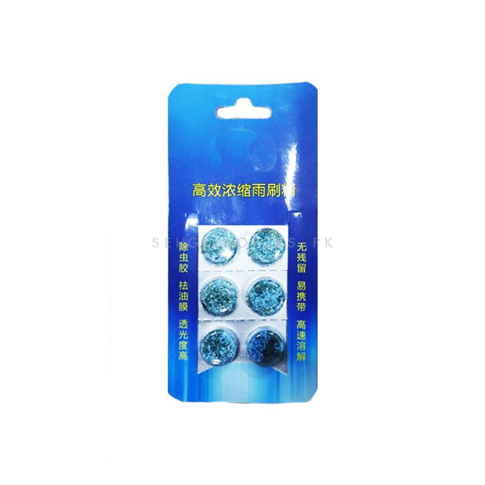 Windshield Washer tablet 6 In 1 | Water Car Windshield Glass Washer Cleaner Compact Effervescent Tablets | Detergent Car Beauty Tool Car Accessories | High Performance Car Glass Washer | Windshield Cleaner-SehgalMotors.Pk