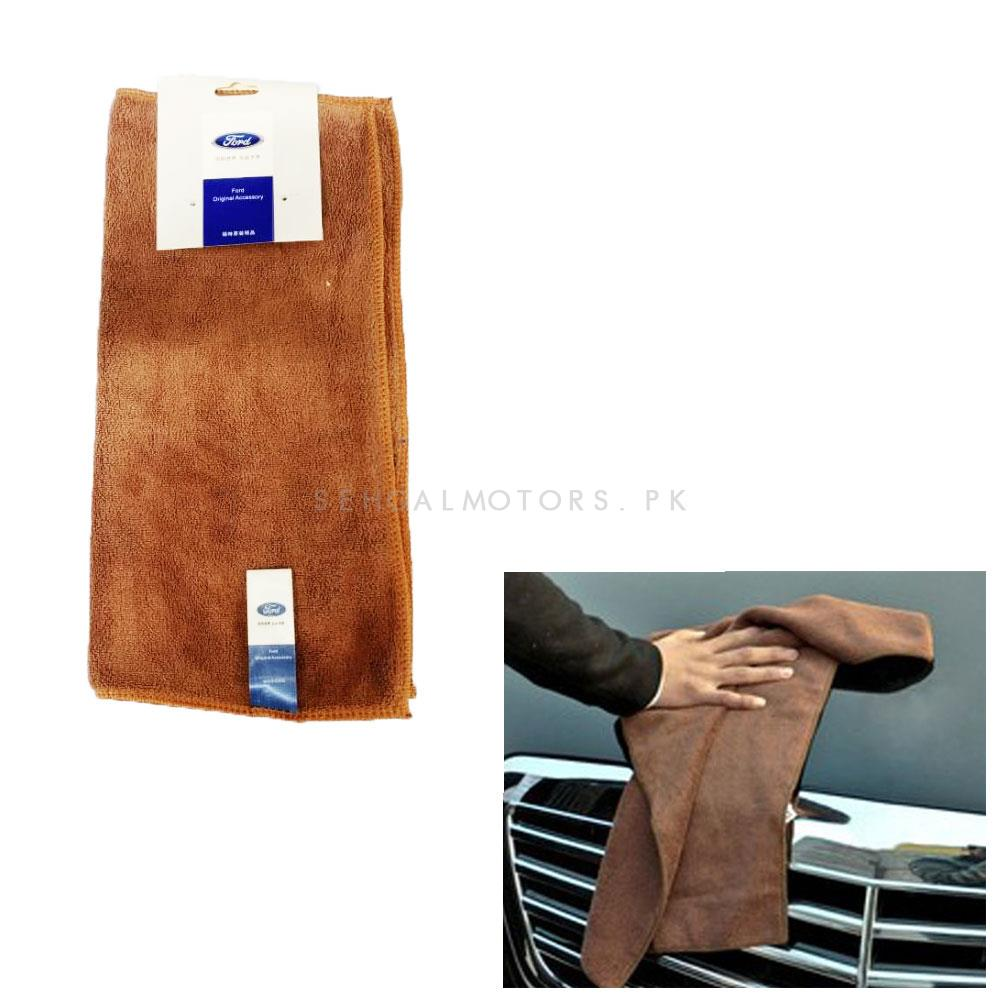 Ford Ultra Soft Microfiber Cloth | Water Absorption Home Automobile Accessories | Velvet Car Wash Cloth Auto Cleaning Door Window Care Thick Strong-SehgalMotors.Pk
