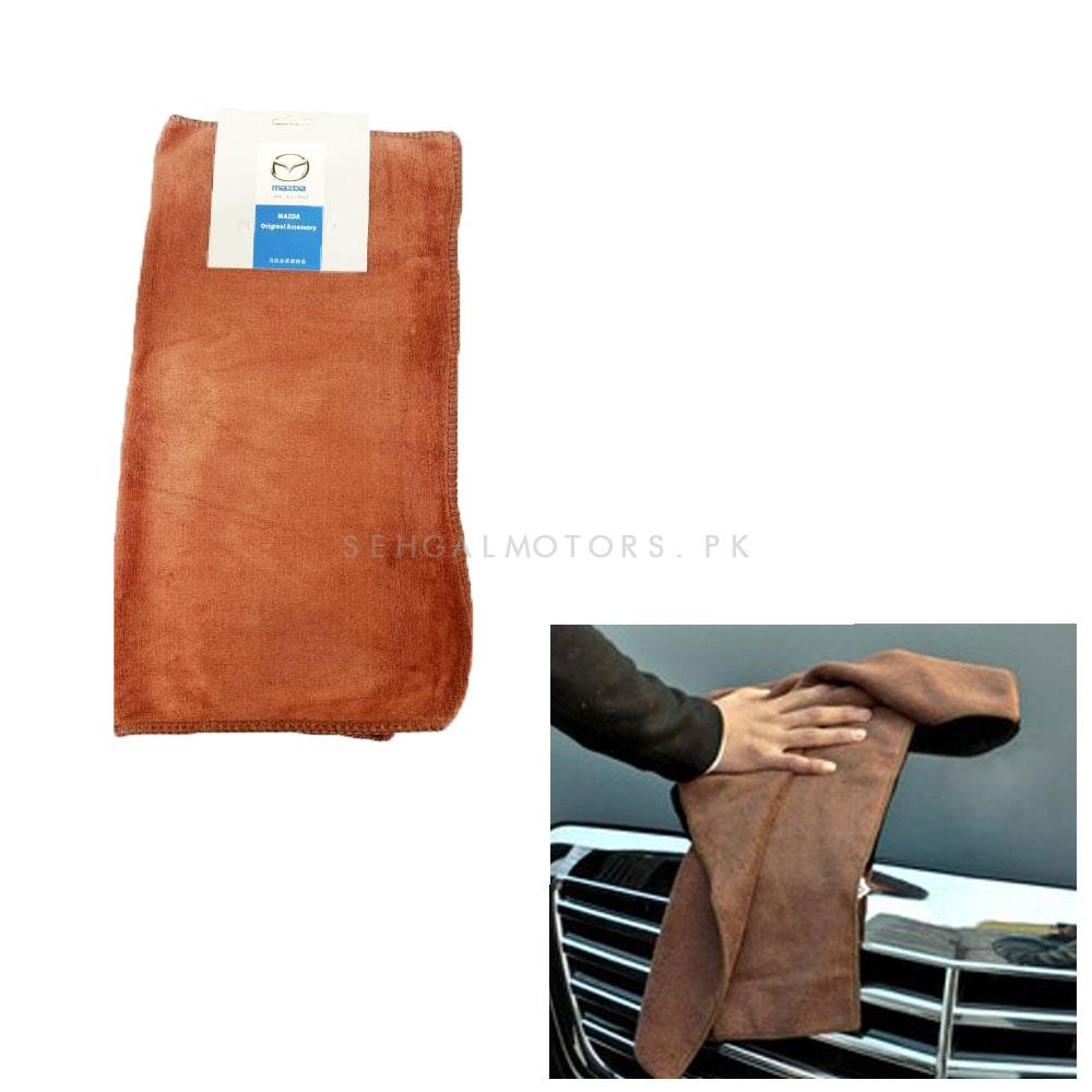 Mazda Ultra Soft Microfiber Cloth | Water Absorption Home Automobile Accessories | Velvet Car Wash Cloth Auto Cleaning Door Window Care Thick Strong-SehgalMotors.Pk