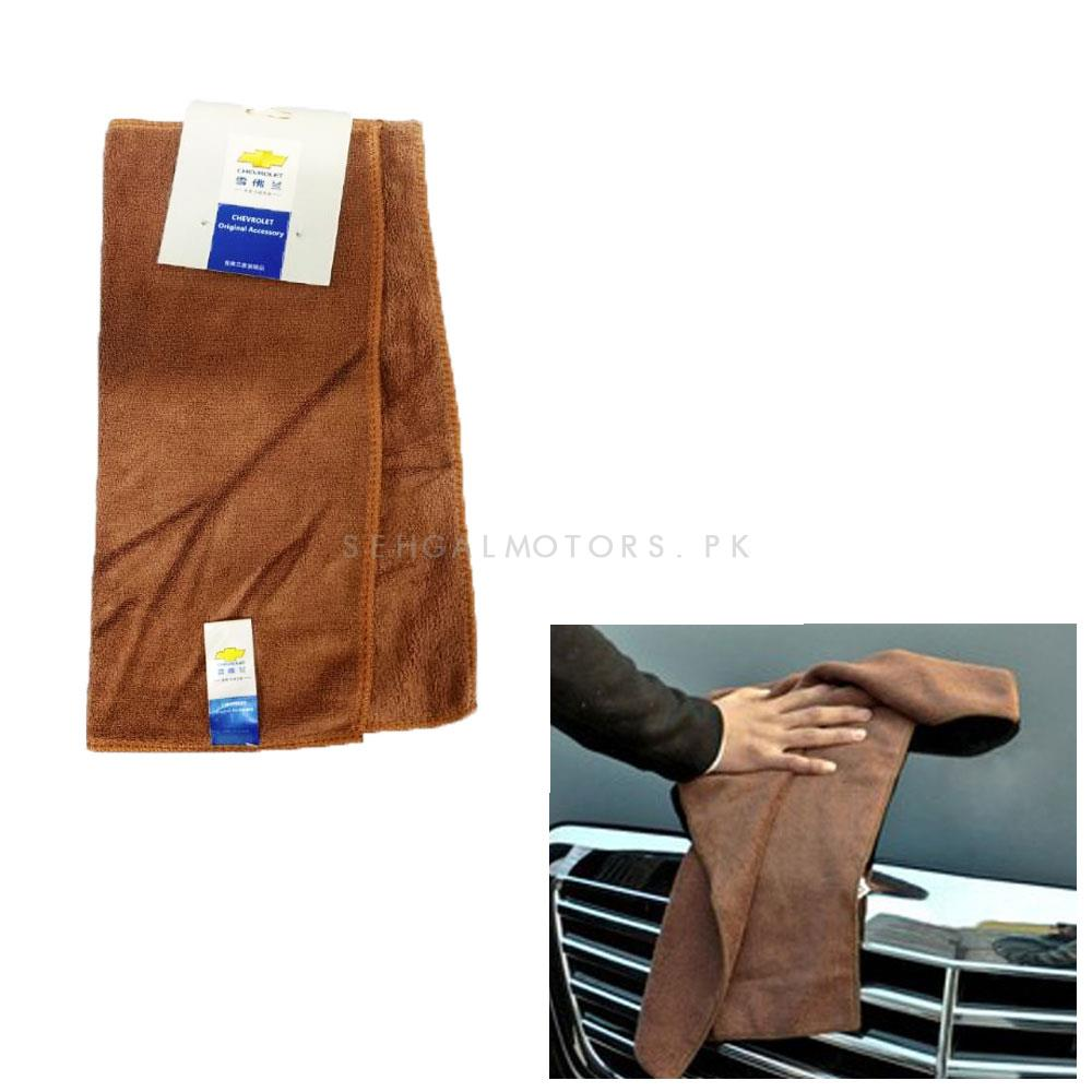 Chevrolet Ultra Soft Microfiber Cloth   Water Absorption Home Automobile Accessories   Velvet Car Wash Cloth Auto Cleaning Door Window Care Thick Strong-SehgalMotors.Pk