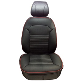 Toyota Corolla Seat Covers Black Red Stitch - Model 2014-2017-SehgalMotors.Pk