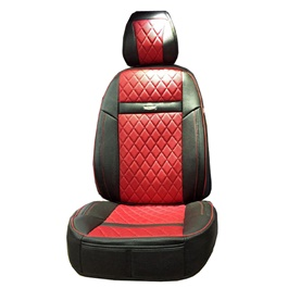 Toyota Corolla Seat Covers Leather Black Red - Model 2014-2017-SehgalMotors.Pk
