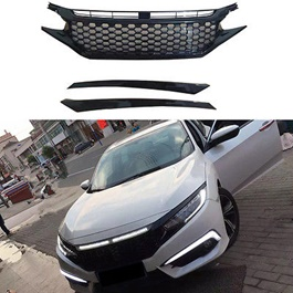 Honda Civic SI Grille Glossy Black - Model 2016-2020-SehgalMotors.Pk