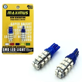 Maximus SMD 28 Parking Light Blue - Pair | Led Light Bulb For Parking | SMD Car Exterior Parking Lamps Parking Lights Car Accessories-SehgalMotors.Pk