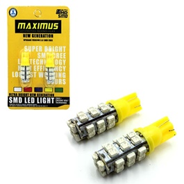 Maximus SMD 28 Parking Light Yellow - Pair-SehgalMotors.Pk
