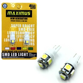 Maximus SMD 5 Parking Light White - Pair-SehgalMotors.Pk