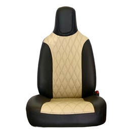 Toyota Vitz Seat Covers Black Beige Ferrari Style - Model 2014-2017-SehgalMotors.Pk
