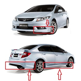 Honda Civic Modulo Body Kit / Bodykit Taiwan - Model 2012-2016-SehgalMotors.Pk