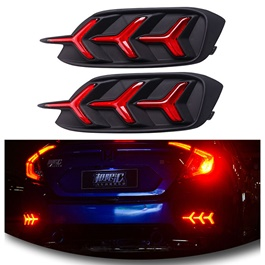 Honda Civic Back Bumper Light Mustang Style V3 with Indicator Option – Model 2016-2017-SehgalMotors.Pk