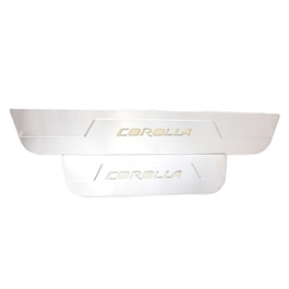 Toyota Corolla LED Sill Plates / Skuff LED panels Chrome - Model 2011-2013-SehgalMotors.Pk