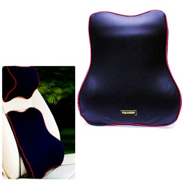 Maximus Back Rest Cushion Blue Soft Memory Foam Lumbar Support Back Massager Waist Cushion Pillow For Chairs in the Car Seat Pillows Home Office Relieve Pain-SehgalMotors.Pk