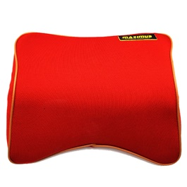 Maximus Neck Rest Pillow Red | Car Seat Headrest Memory Cotton Soft Breathable Pillow Neck Support Cushion-SehgalMotors.Pk