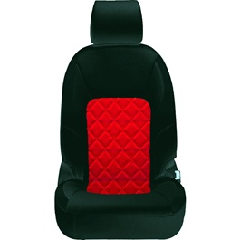 Toyota Corolla Seat Covers Black Red Design 2 - Model 2014-2017-SehgalMotors.Pk