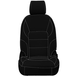 Honda City Seat Cover Black with White Stitch - Model 2015-2017-SehgalMotors.Pk