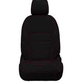 Honda City Seat Cover Black with Red Stitch - Model 2015-2017-SehgalMotors.Pk