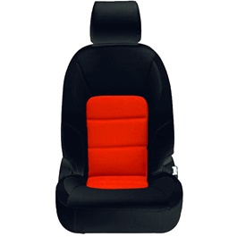Honda Civic Seat Covers Black Orange Design 2 - Model 2016-2020-SehgalMotors.Pk